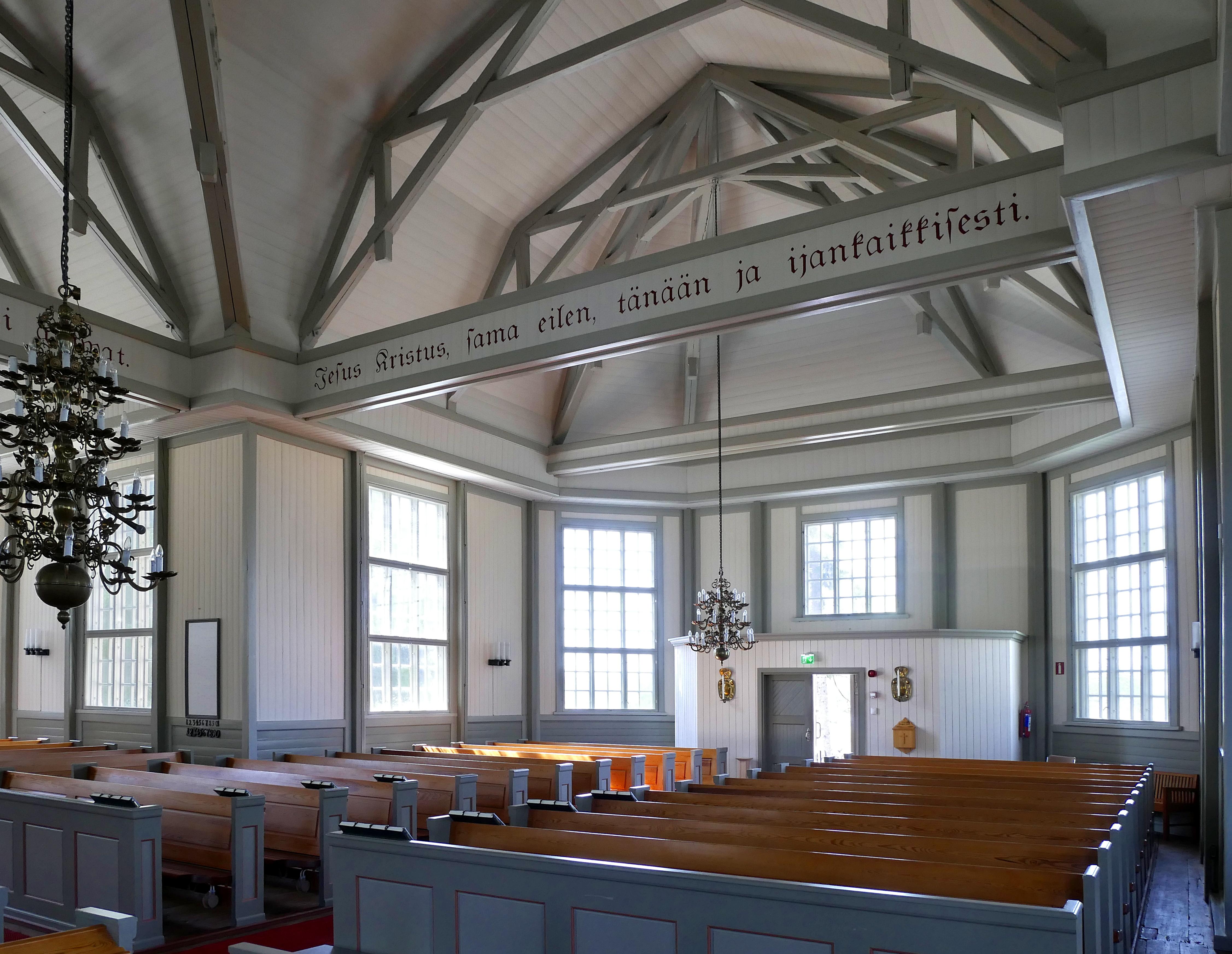 Lappajärvi Church interior west side 20180801.jpg
