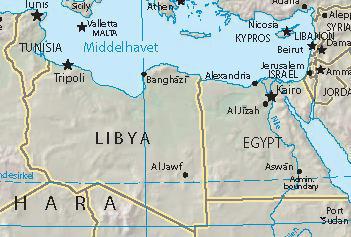 Libya And Egypt Launch Air Strikes Against ISIS After Militants - Map of egypt libya and sudan