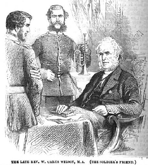 A drawing of the Reverend William Carus Wilson (seated)