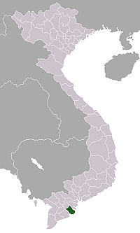 Location of Trà Vinh Province