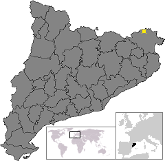 Location of La Jonquera, in Catalonia