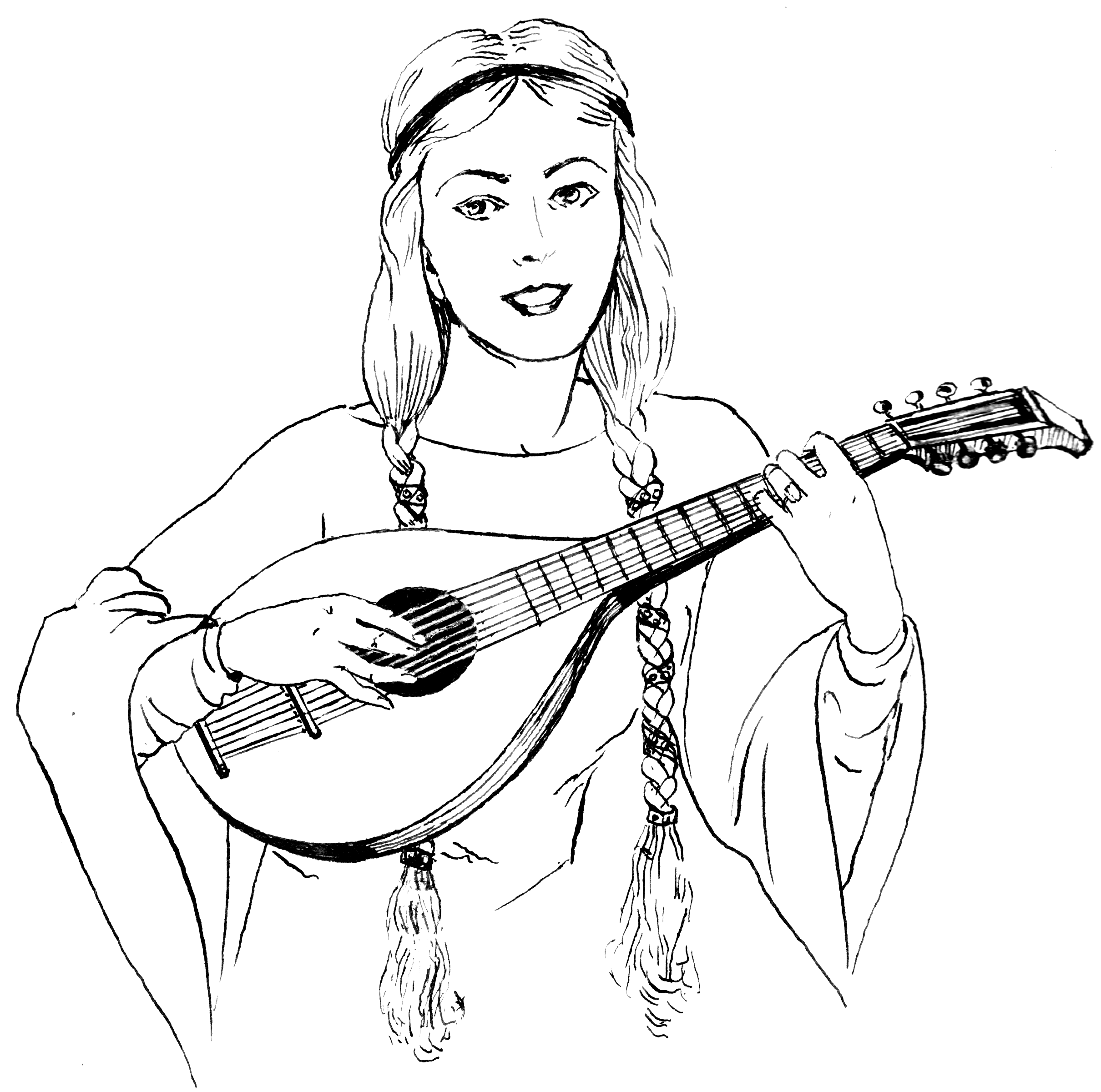 Pilgrim Indian Coloring Pages