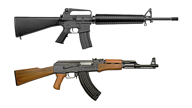 Comparison of the AK-47 and M16