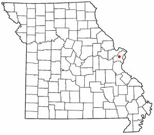 Location of Creve Coeur, Missouri