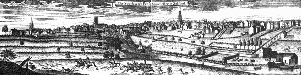 Panorama of Manchester in 1746