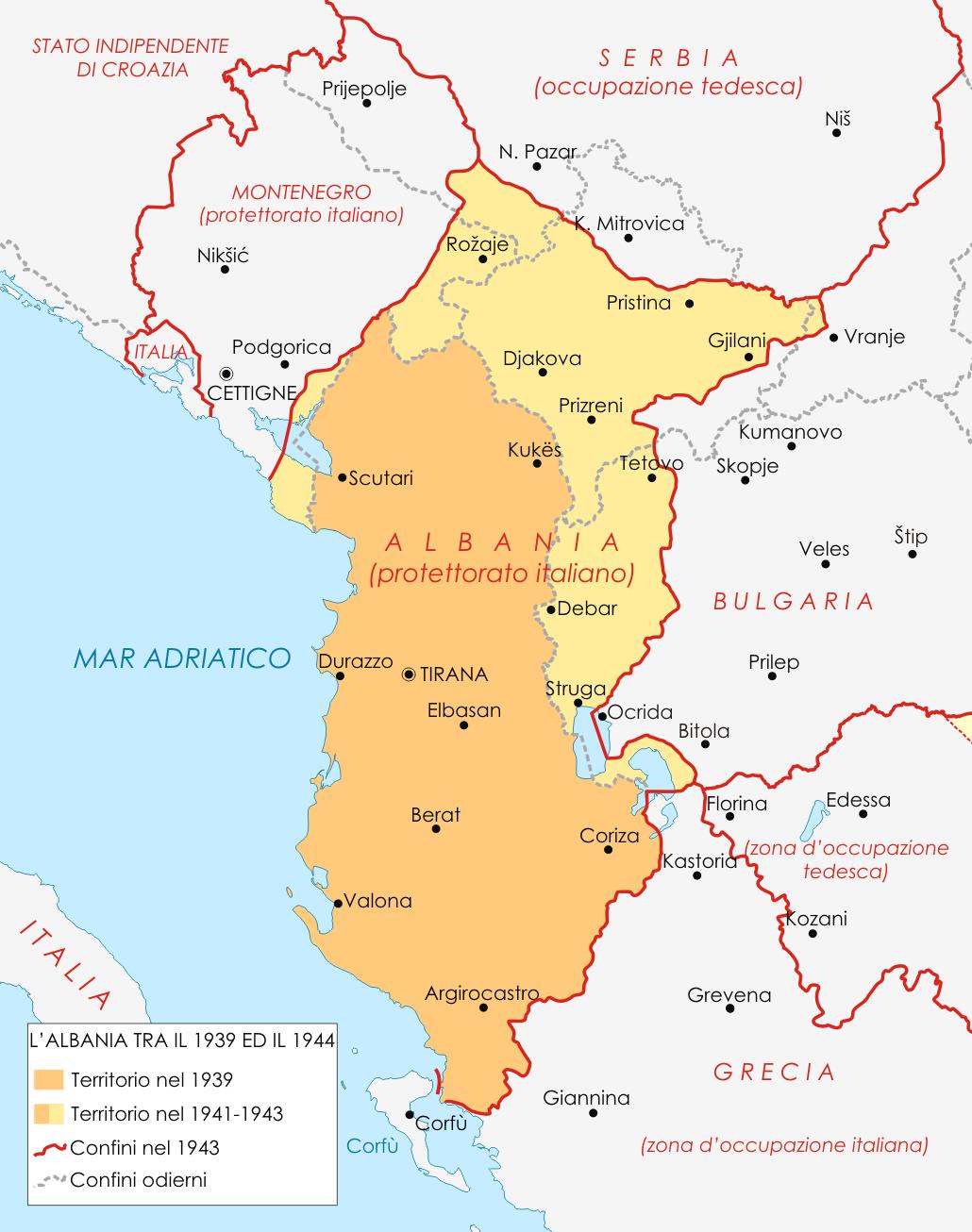 Albania Cartina Geografica.Albania Mappa Province