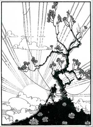 Maui Snaring the Sun, pen and ink, circa 1927, Honolulu Academy of Arts.jpg