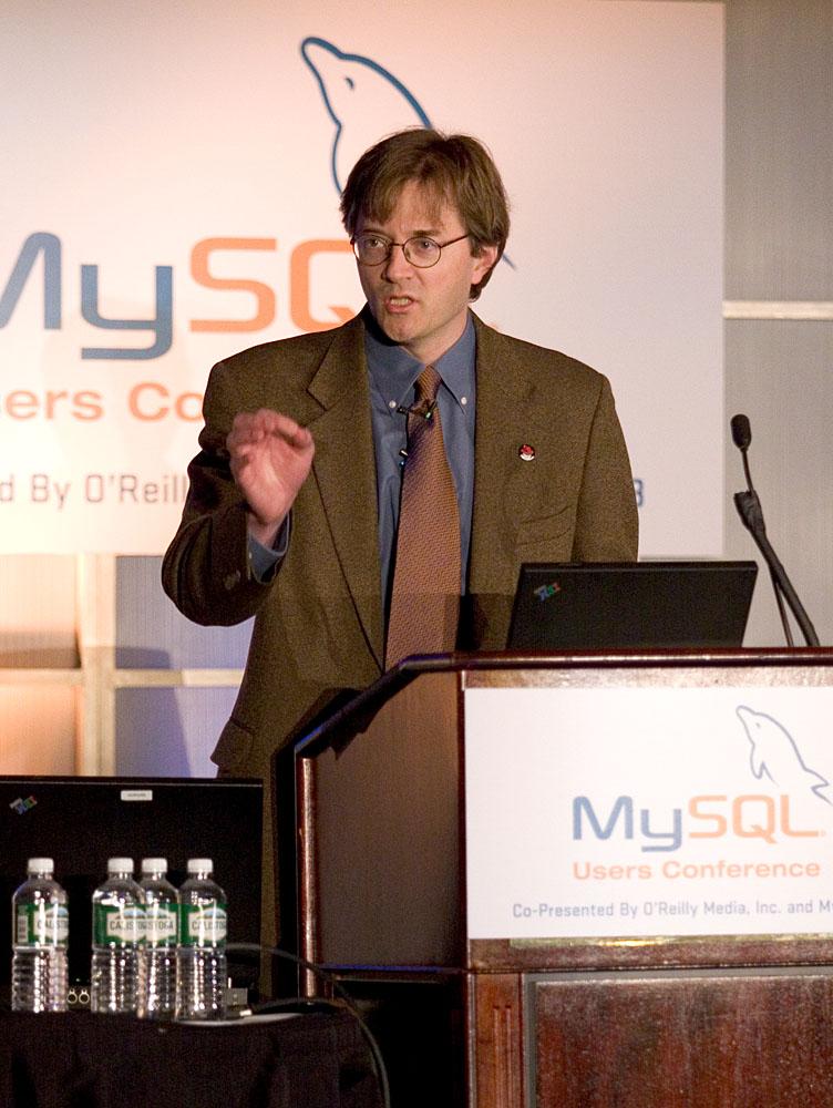 Michael Tiemann on the MySQL Conference 05 (2005 photo)