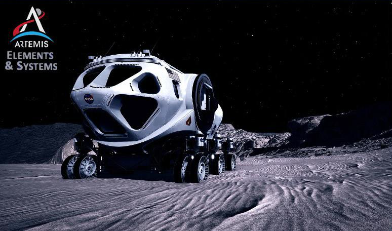 NASA Habitable Mobility Platform based on the post Constellation Space Exploration Vehicle.