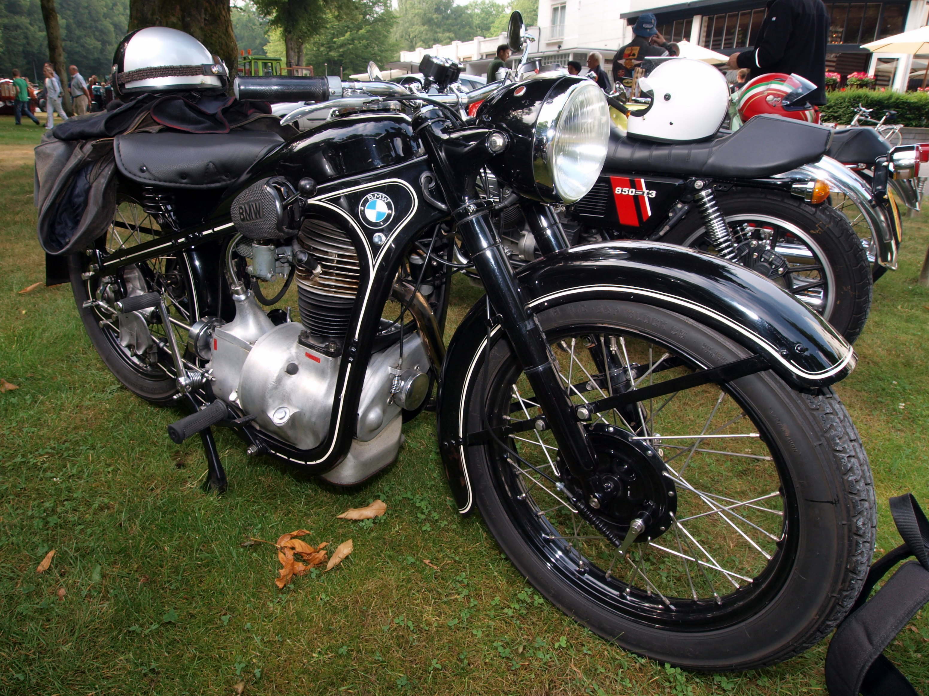 Old BMW motorcycle...