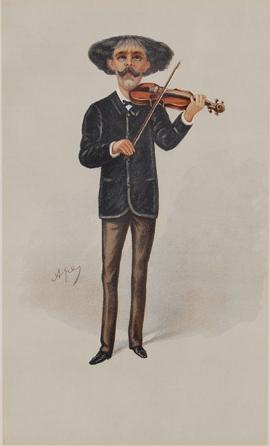 Caricature of Pablo de Sarasate.