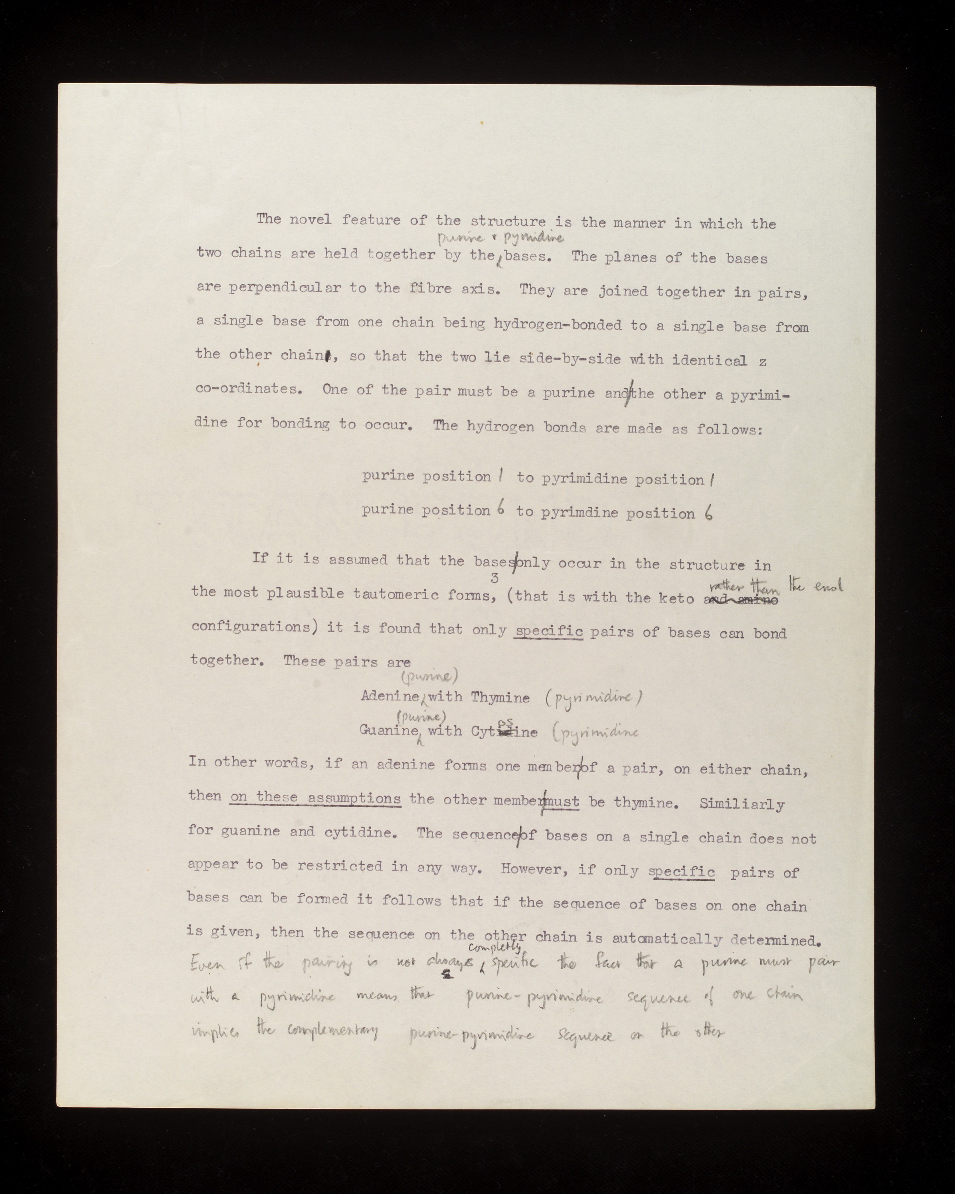 watson and crick essay example Get custom essay sample written according to your requirements  the work of rosalind franklin provided a key piece of data for watson and crick's model of dna .