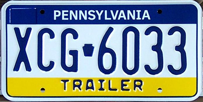 CHIFFRES EN IMAGE - Page 14 Pennsylvania_Trailer_License_Plate_XCG-6033