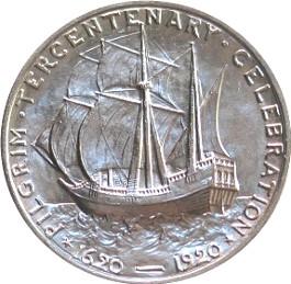 File:Pilgrim tercentenary half dollar commemorative reverse.jpg