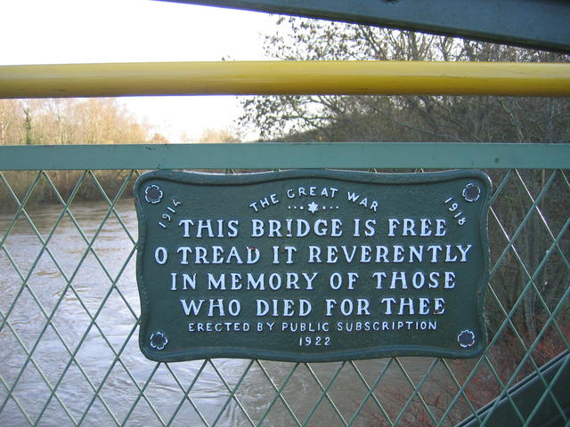 File:Plaque on Coalport Memorial Bridge - geograph.org.uk - 292030.jpg