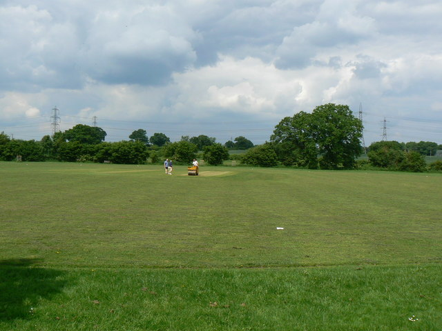 Preparing the wicket - geograph.org.uk - 825516