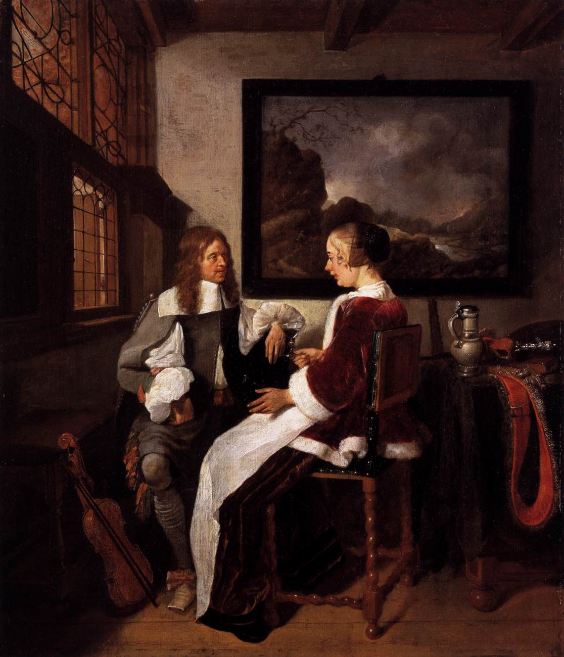 Dutch Masters Painting Boy With Candle Wood Carver