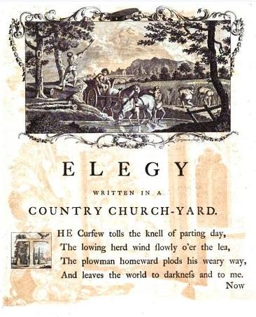Elegy Written In A Country Churchyard Wikipedia