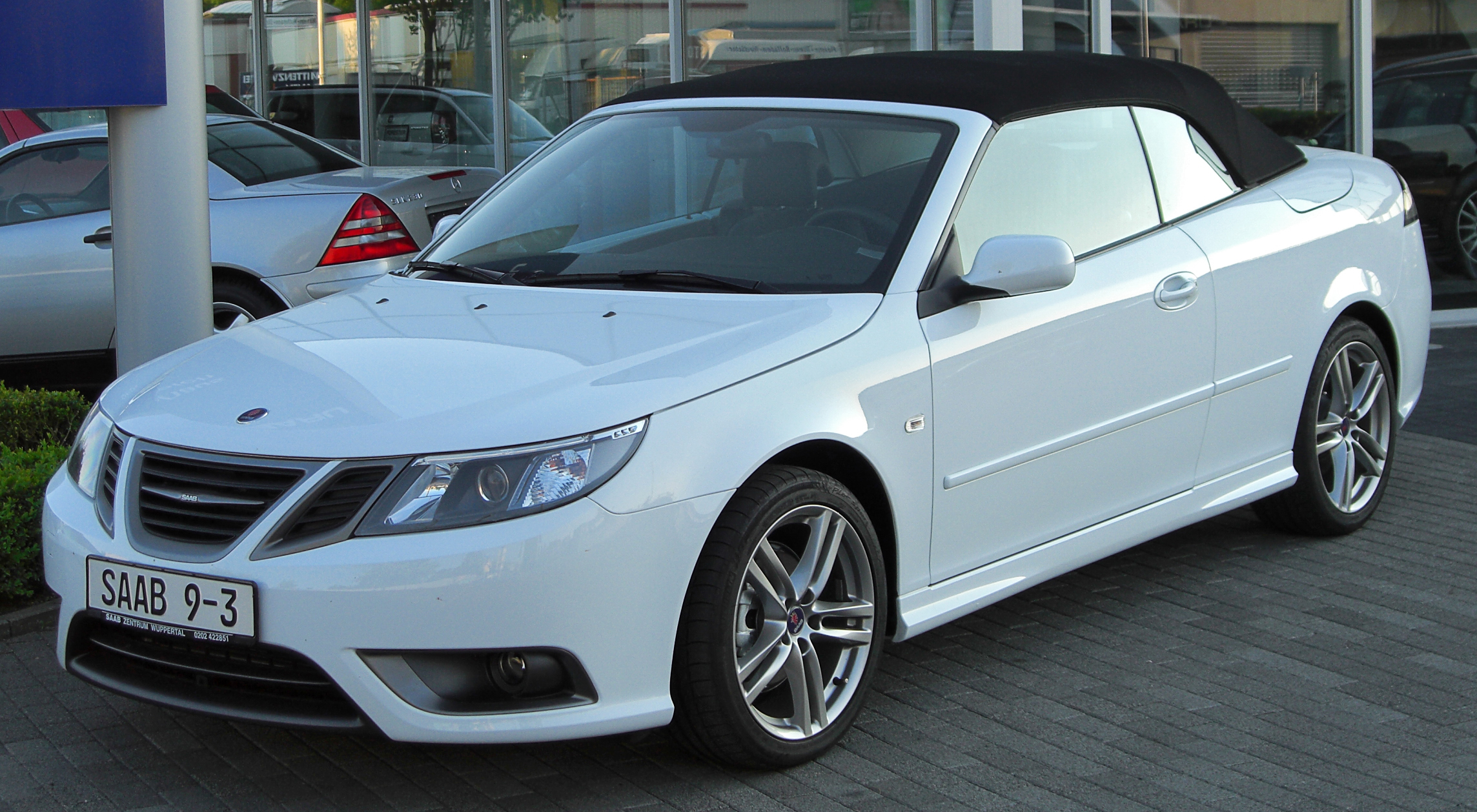 file saab 9 3 cabriolet ii facelift front wikimedia commons. Black Bedroom Furniture Sets. Home Design Ideas