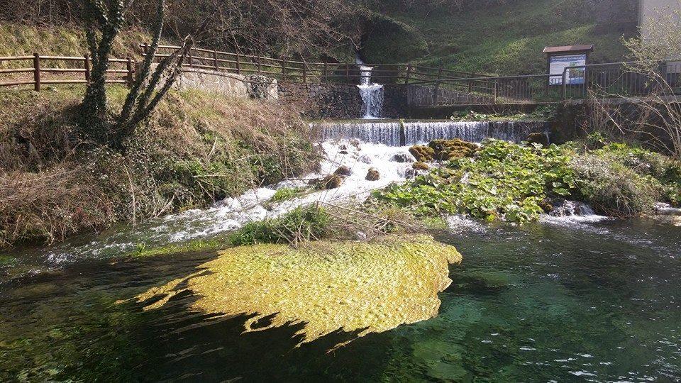 La sorgente del fiume Lao in Basilicata dove prende il nome Mercure prima di arrivare in Calabria