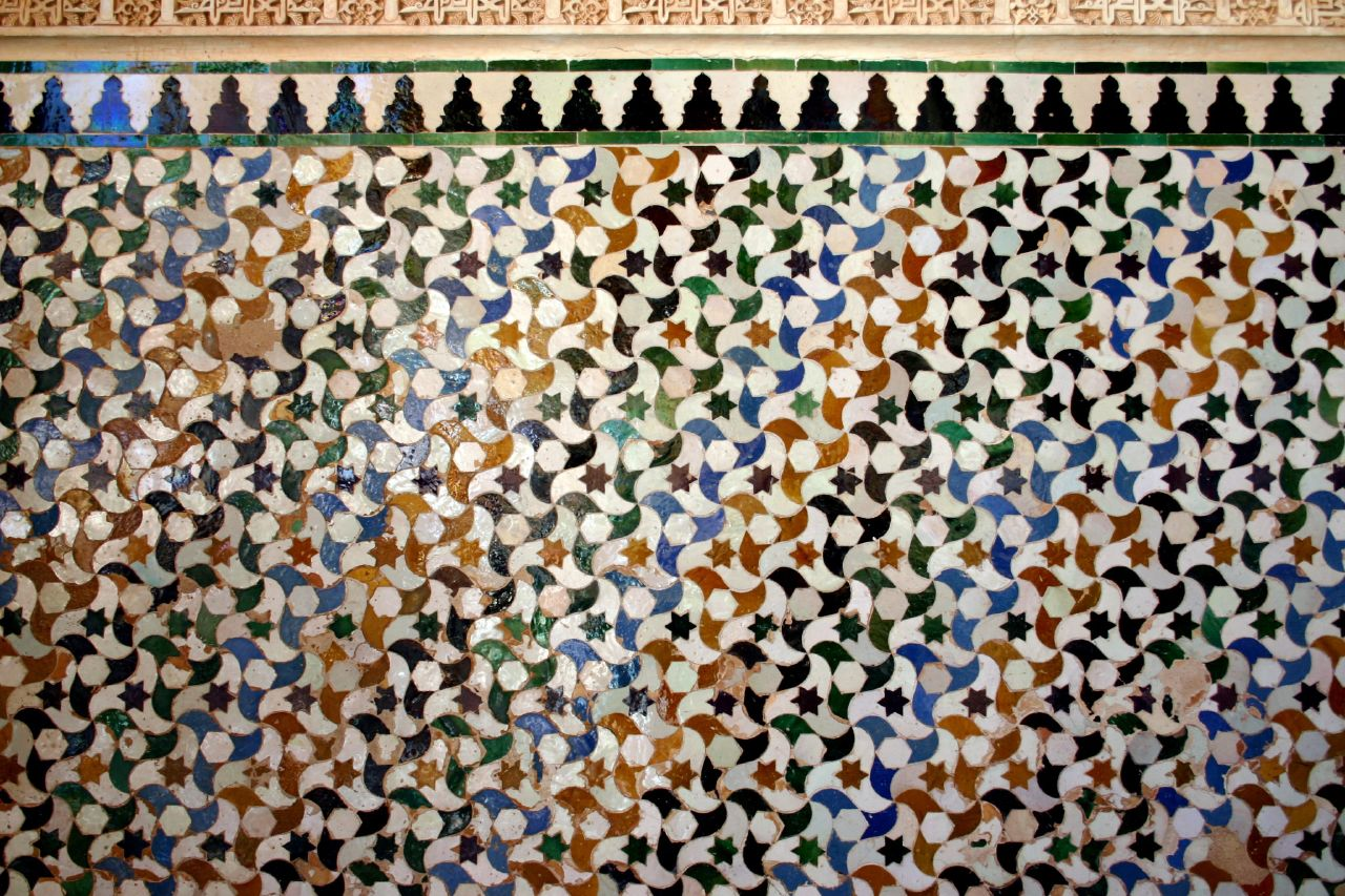 Zellige Tessellation at the Alhambra in Spain