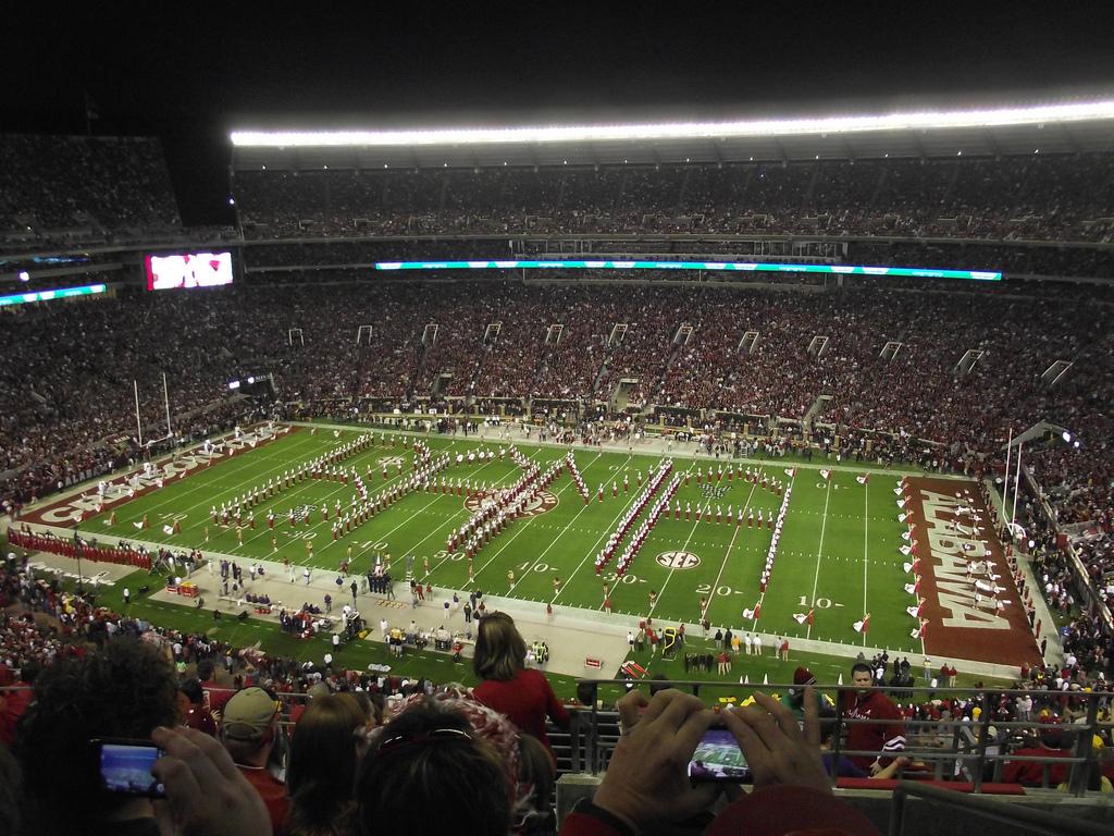 The Alabama Million Dollar Band at Bryant–Denny Stadium