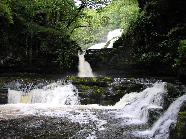 The Waterfalls at Ystradfellte - geograph.org.uk - 20521