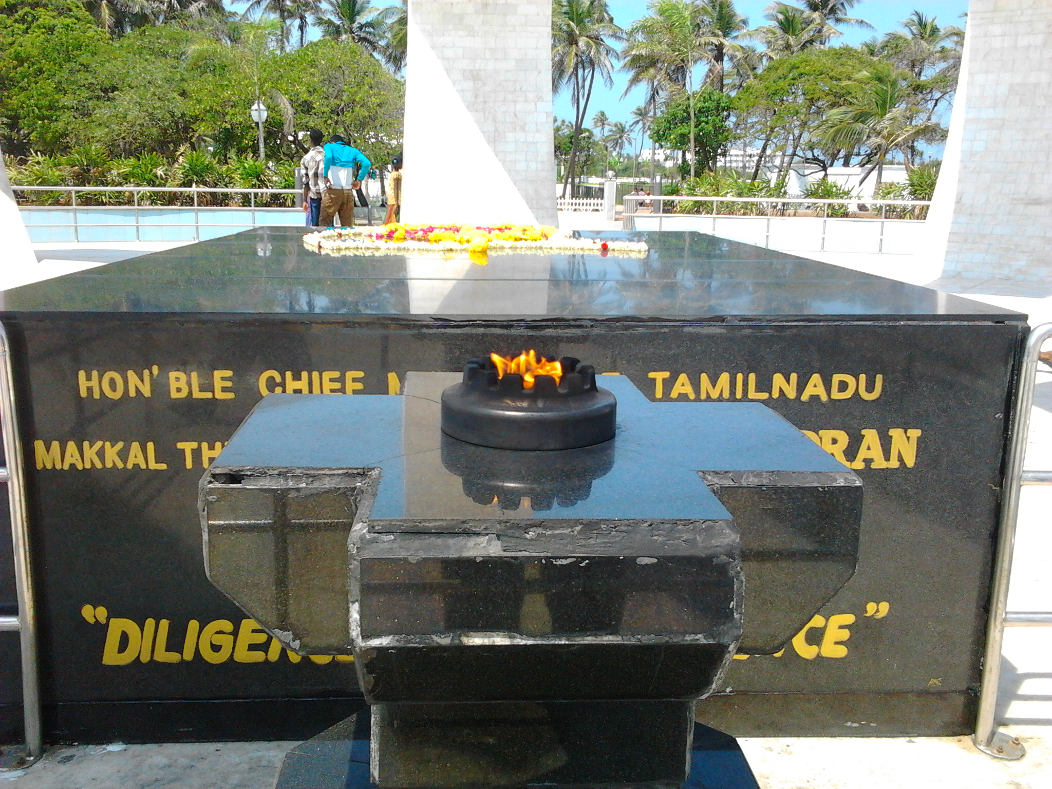 File:The ever-burning lamp at the MGR Memorial.jpg - Wikimedia Commons