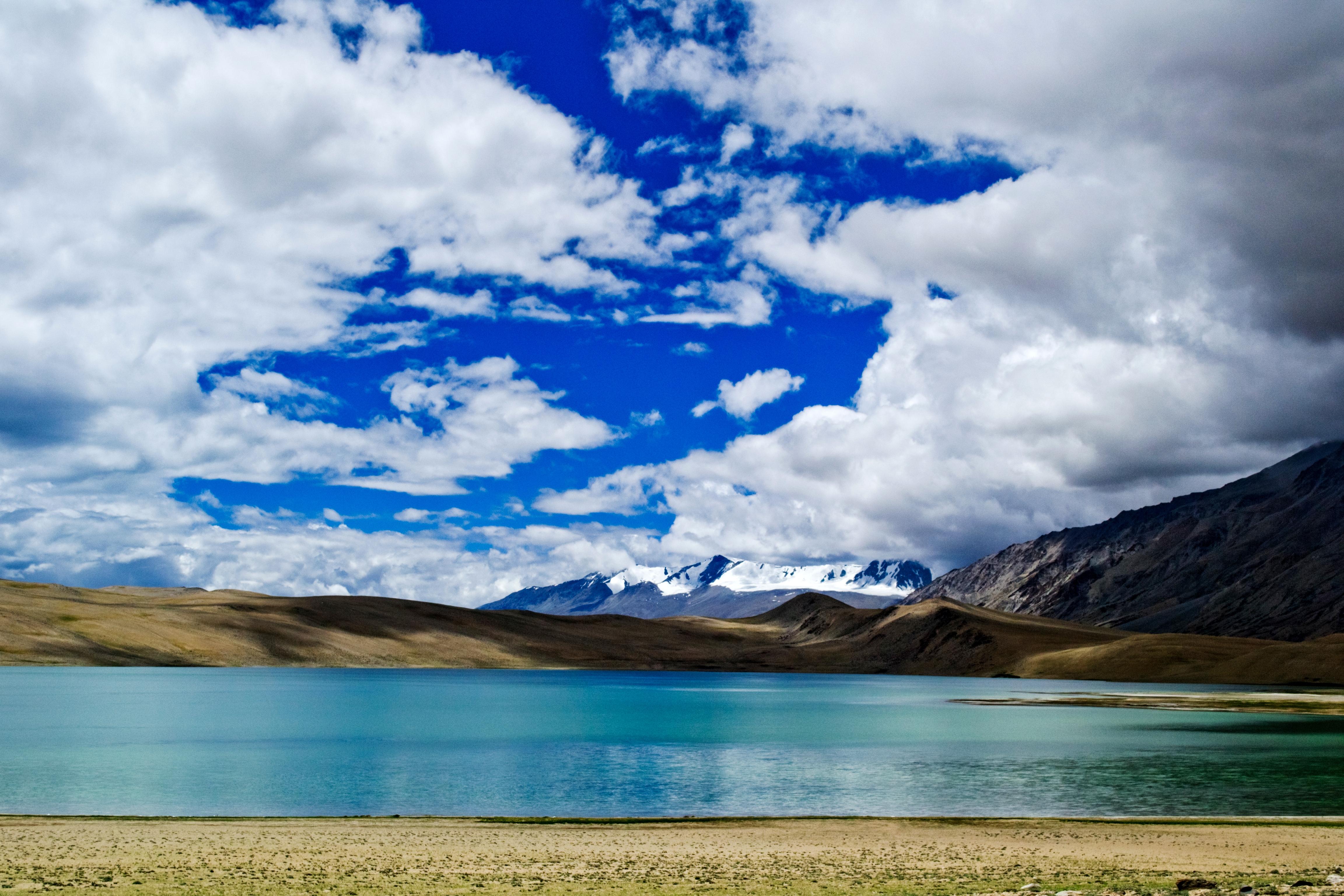 A view of the high altitude Tso Moriri lake