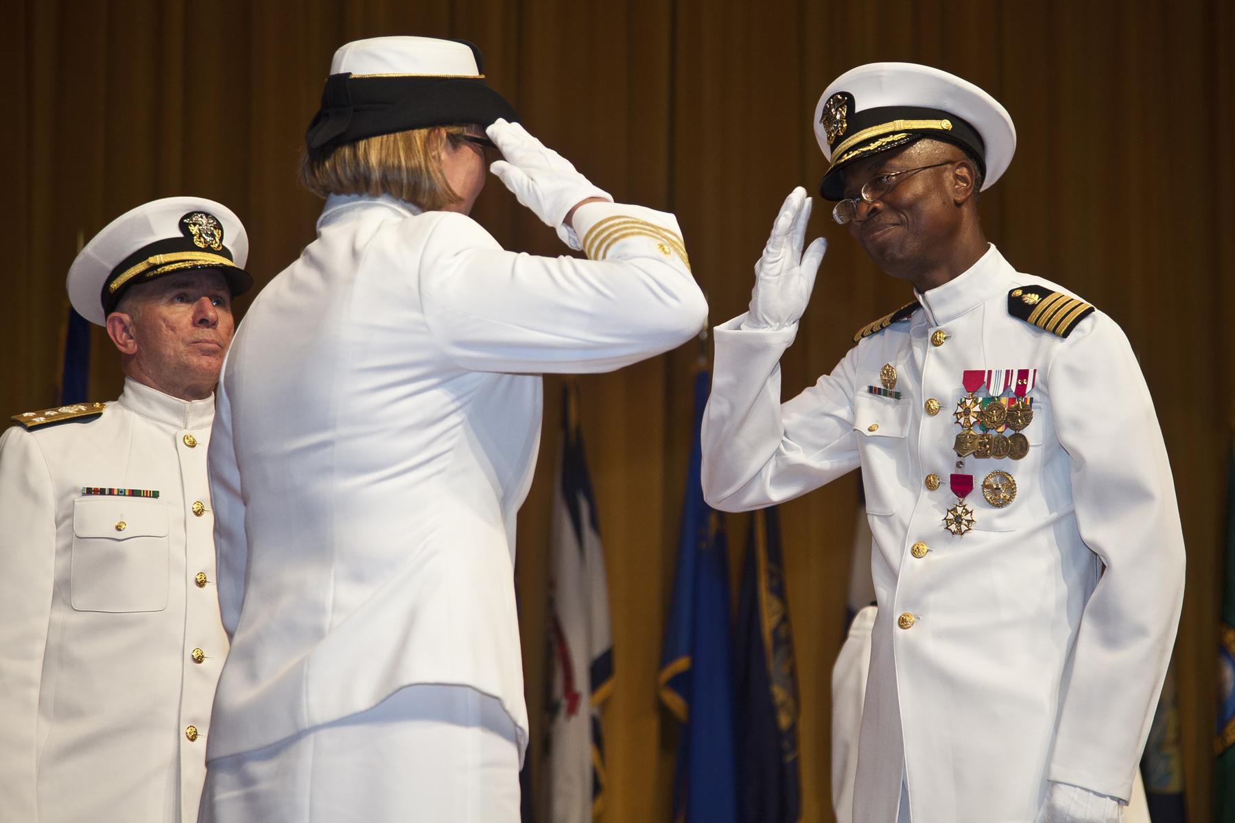 File:U S  Navy Capt  Pius Aiyelawo, outgoing commander, U S