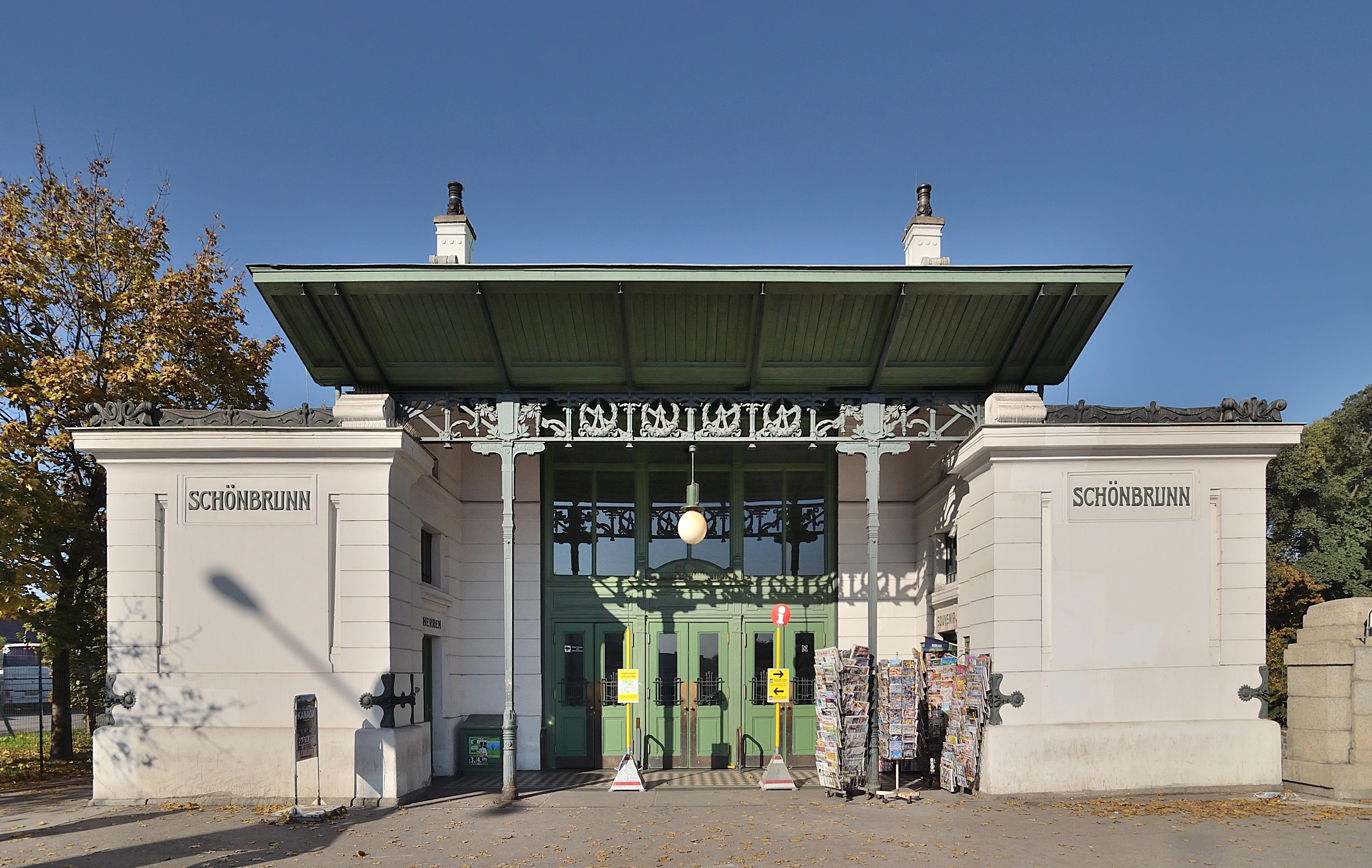 Fileu4 Station Schönbrunn Schienenersatzverkehrjpg Wikimedia