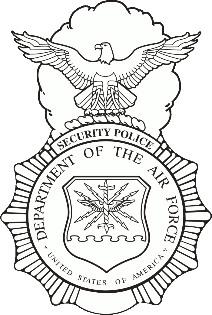 Security Forces Logo http://it.wikipedia.org/wiki/File:USAF_Security_Forces_badge_(black_and_white_art).png