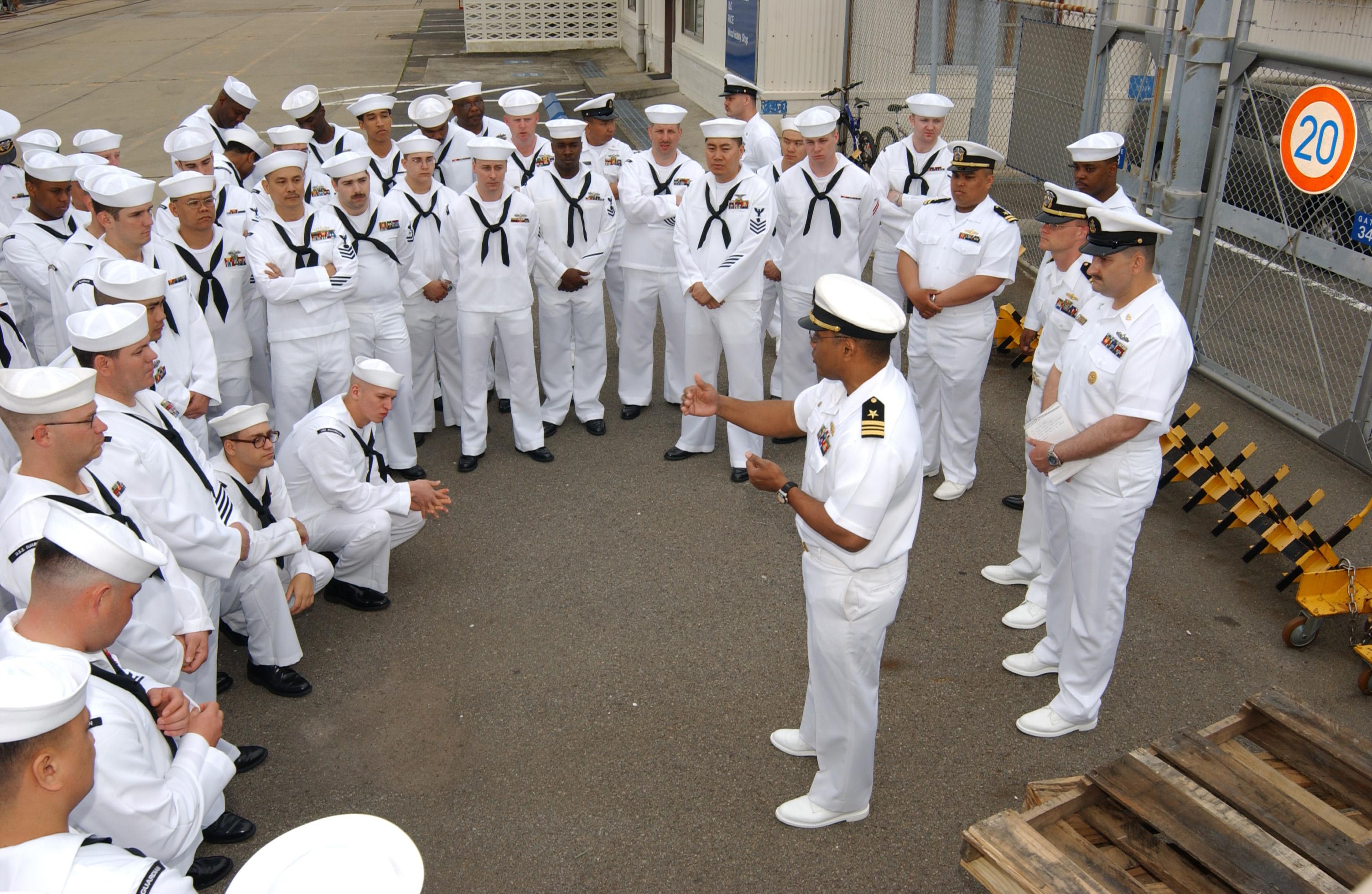 Navys new dress white uniforms put on display at Recruit