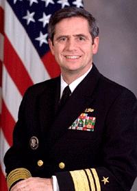 Sestak as a vice admiral and serving as Deputy Chief of Naval Operations for Warfare Requirements and Programs.