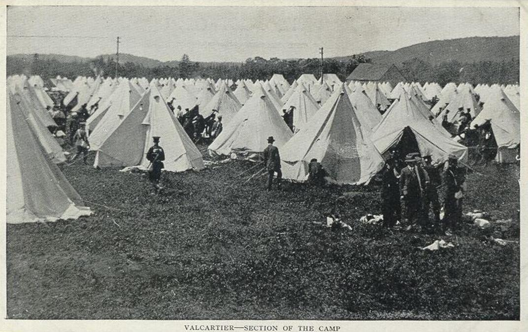 Valcartier - Section of the Camp.JPG