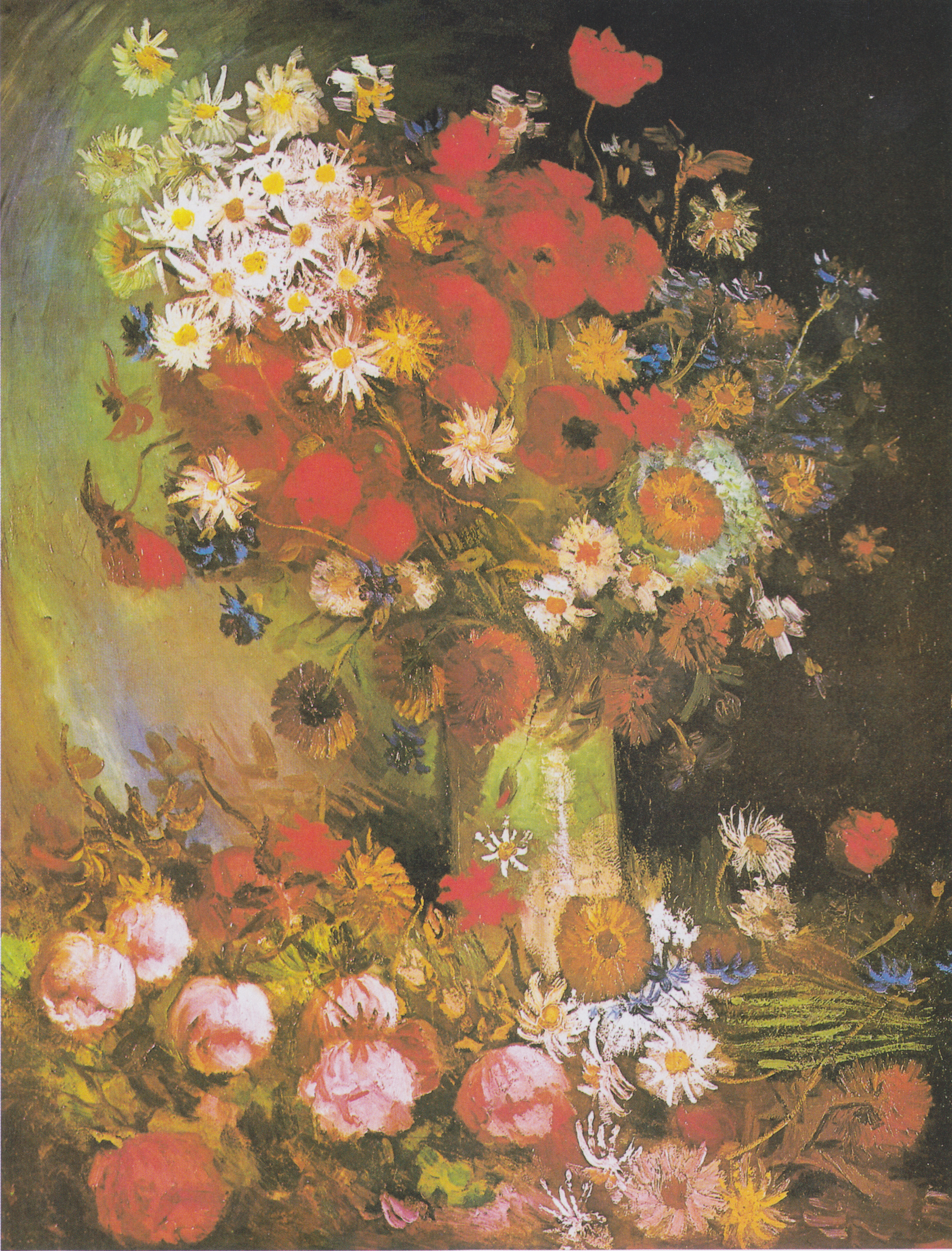 Filevan Gogh Vase Mit Mohn Und Kornblumen Pfingstrosen Und