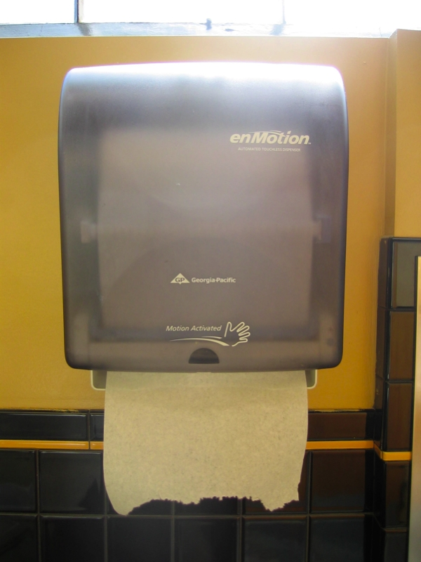 Paper towel dispenser wikipedia for Home bathroom paper towel dispenser
