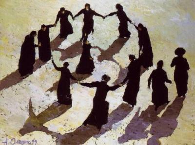 "File:""Jewish Dance"" by Alexandr Onishenko, 1999.jpg"