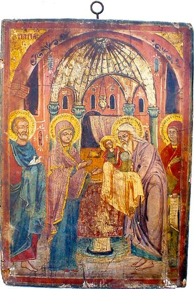 File:050 Presentation of Jesus at the Temple Icon from Saint Paraskevi Church in Langadas.jpg