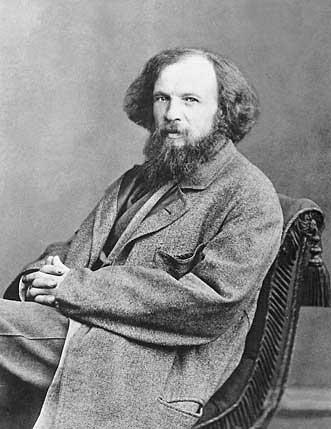 Фотопортрет Д. И. Менделеева в 1861 году. С. Л. Левицкий