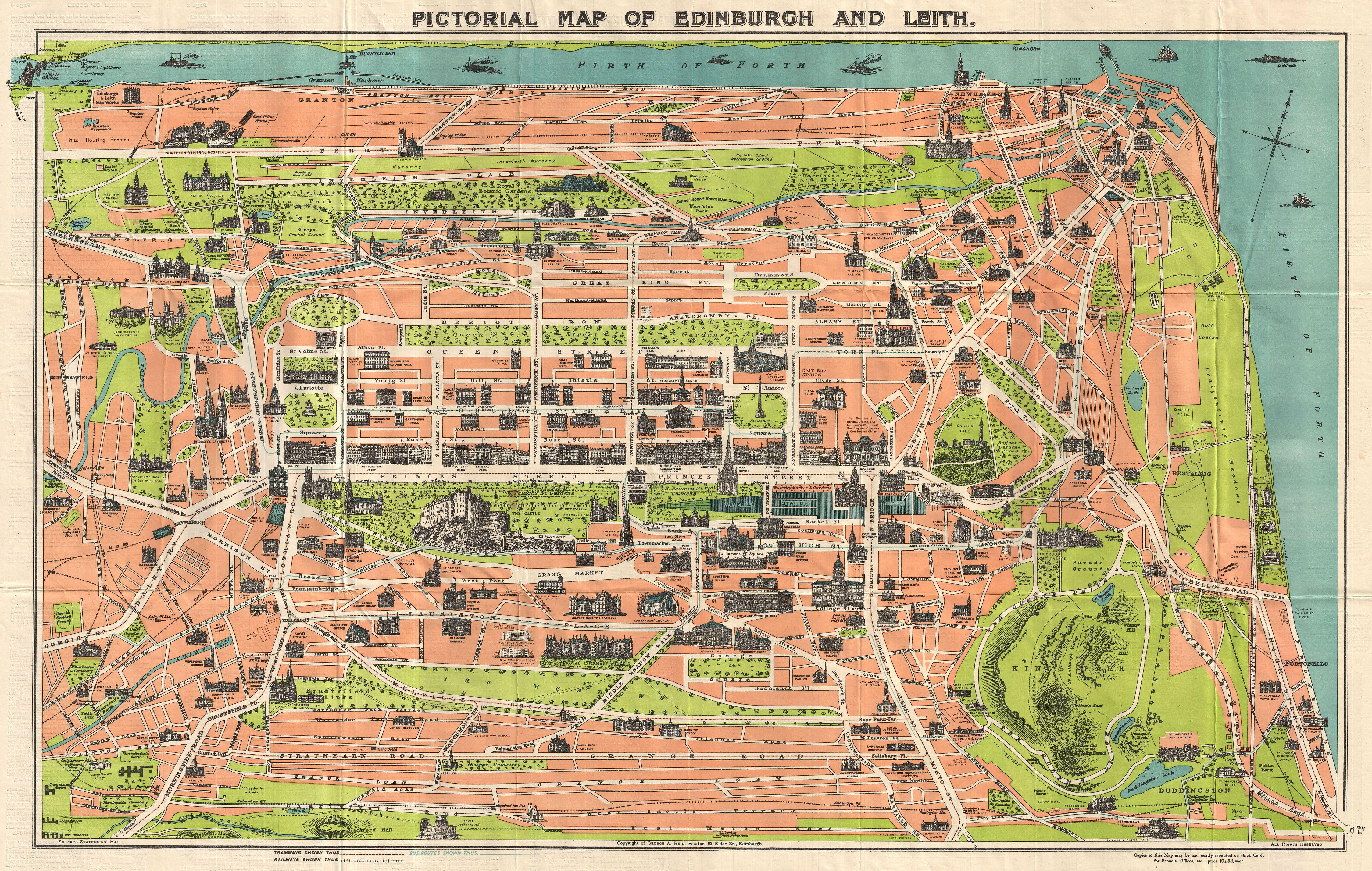 File:1935 Reid Pictorial Map of Edinburgh and Leith ...