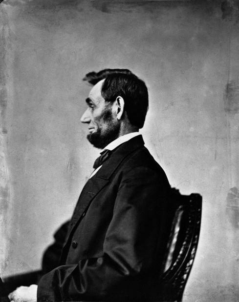 Abraham Lincoln profile by Alexander Gardner 8 November 1863