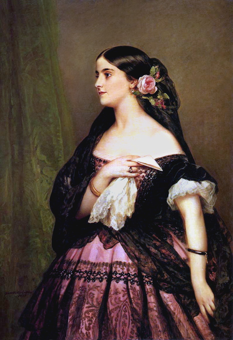 Adelina Patti, by Franz Xaver Winterhalter, 1863, oil on canvas