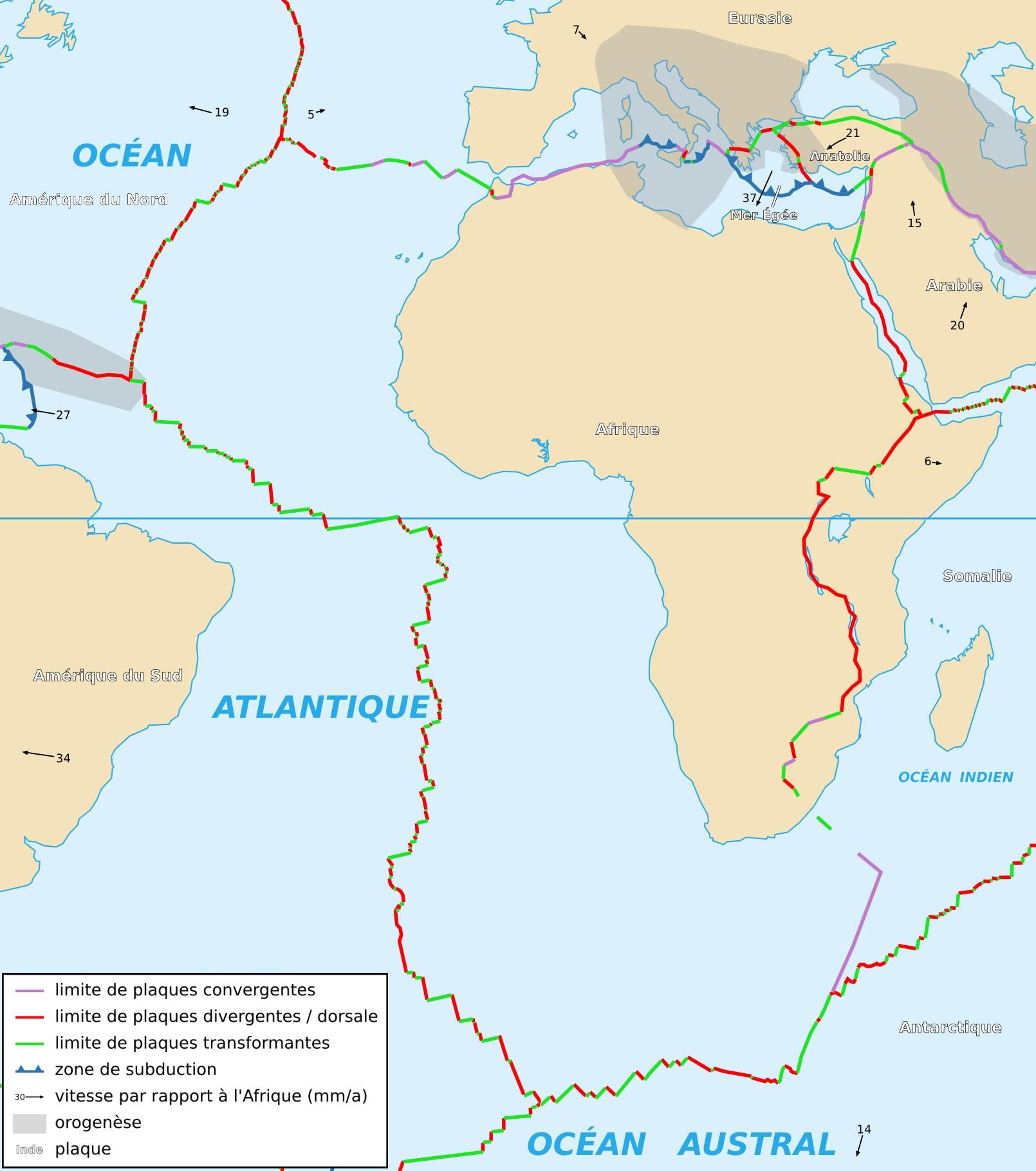 Plaques tectoniques gibraltar
