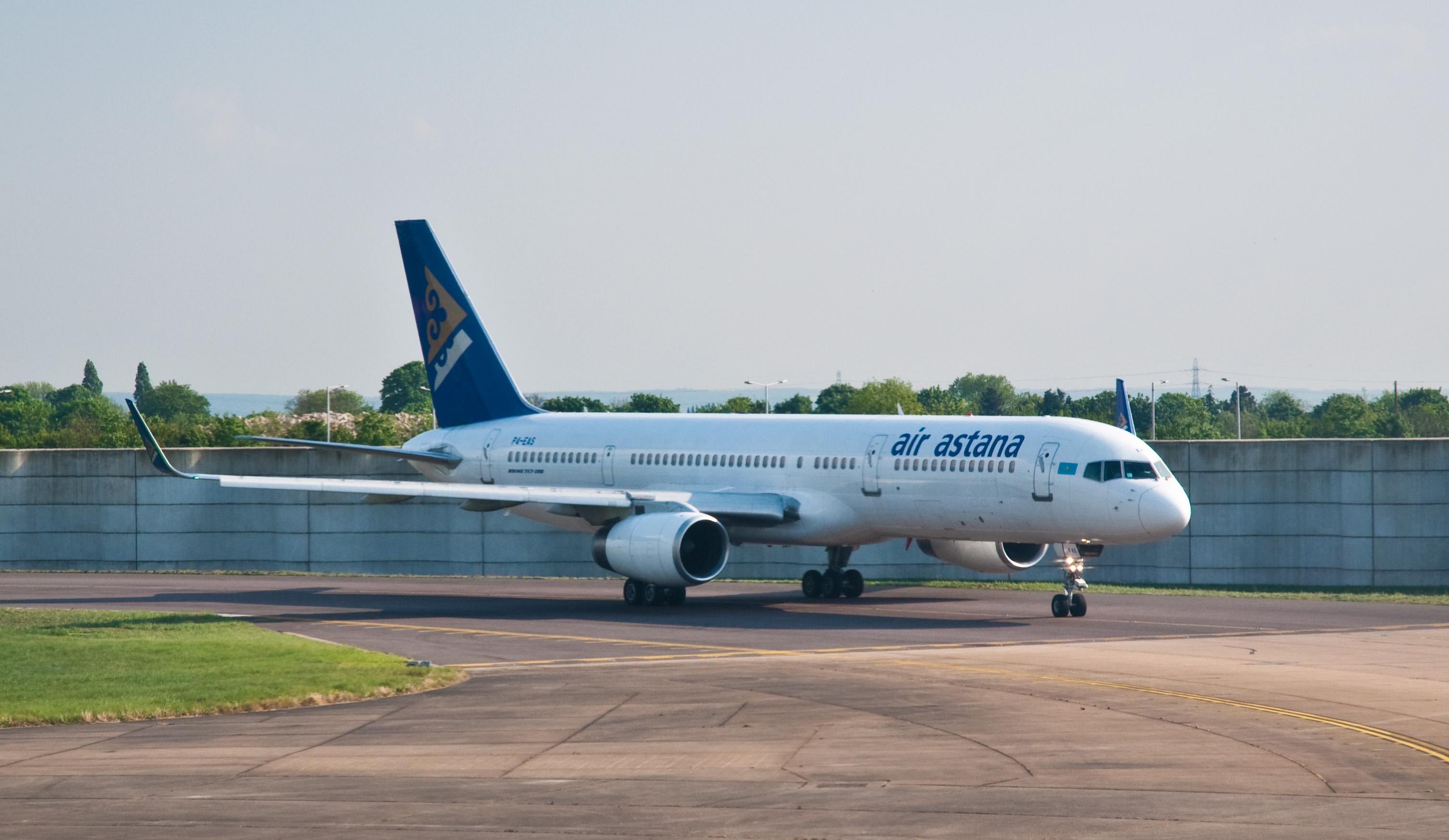 Description Air Astana Boeing 757-200 P4-EAS London Heathrow Airport ...