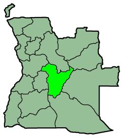 Placering af Bié i Angola