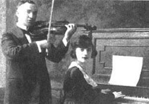Abe Schwartz y su hija Sylvia, ca. 1925.