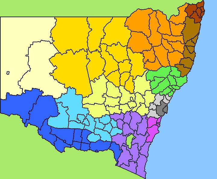 Sydney electorate boundaries in dating 1