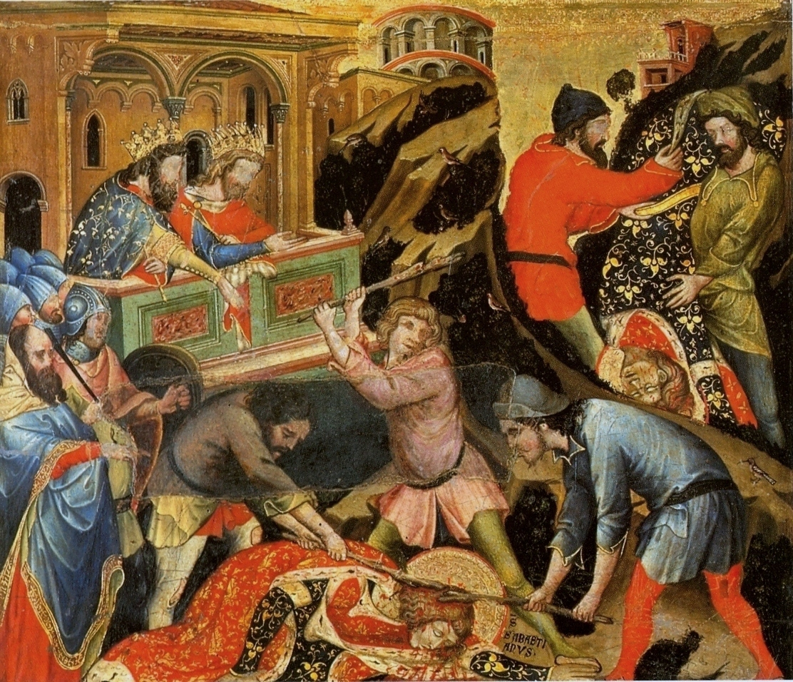 https://upload.wikimedia.org/wikipedia/commons/f/f8/B_Nicol%C3%B2_Semitecolo._St_Sebastian_Beaten_with_Sticks._1367%2C_Padova%2C_Museo_Diocesano.jpg