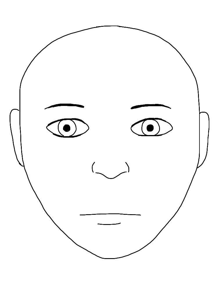 Blank human face outline - photo#4